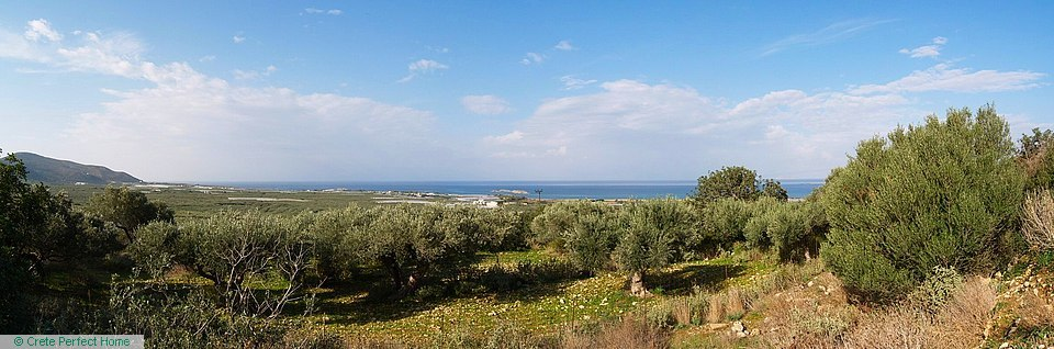 Large plot with Falasarna sea views & permit for 2 houses