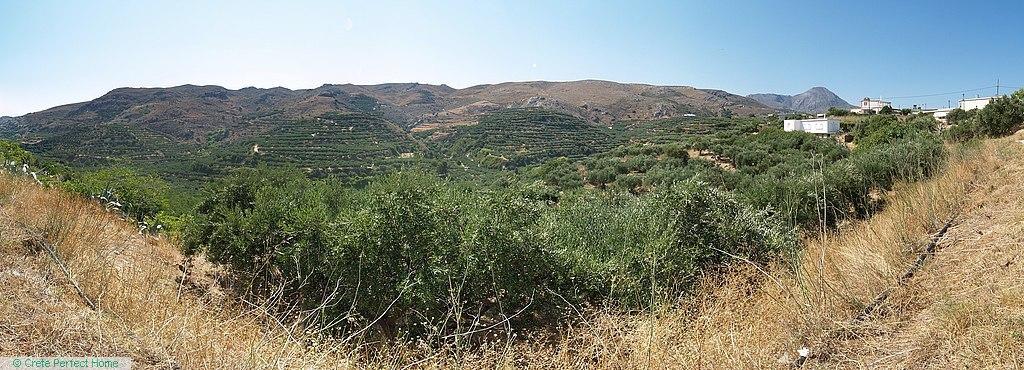 Level plot near to Falassarna, rural & sea views, ideal for touristic use
