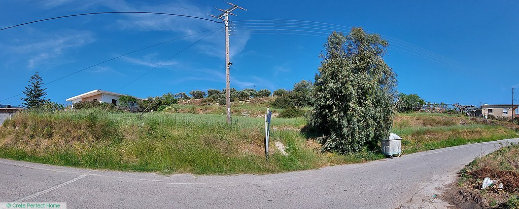Large terraced plot with huge build allowance, rural & sea views