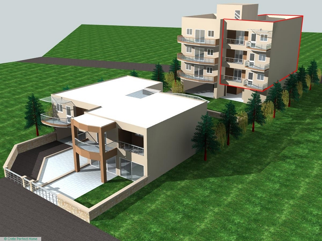 3 part-constructed 2-bed apartments close to beach, sea views